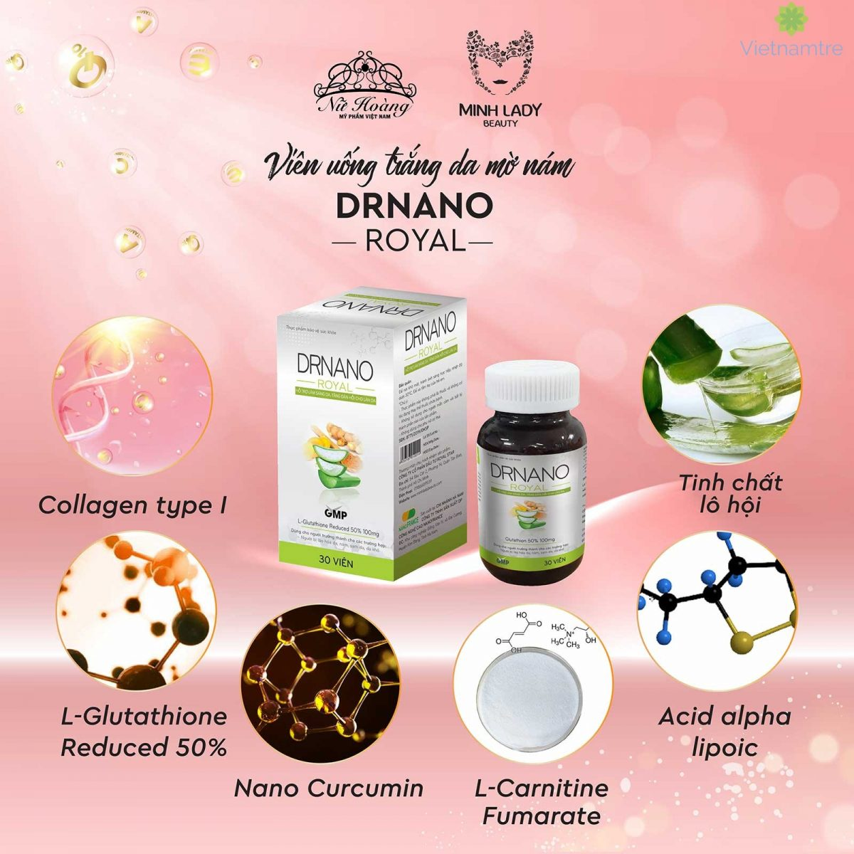 Thành phần 100% tự nhiên giúp Dr Nano Royal luôn là lựa chọn tối ưu cho phái đẹp