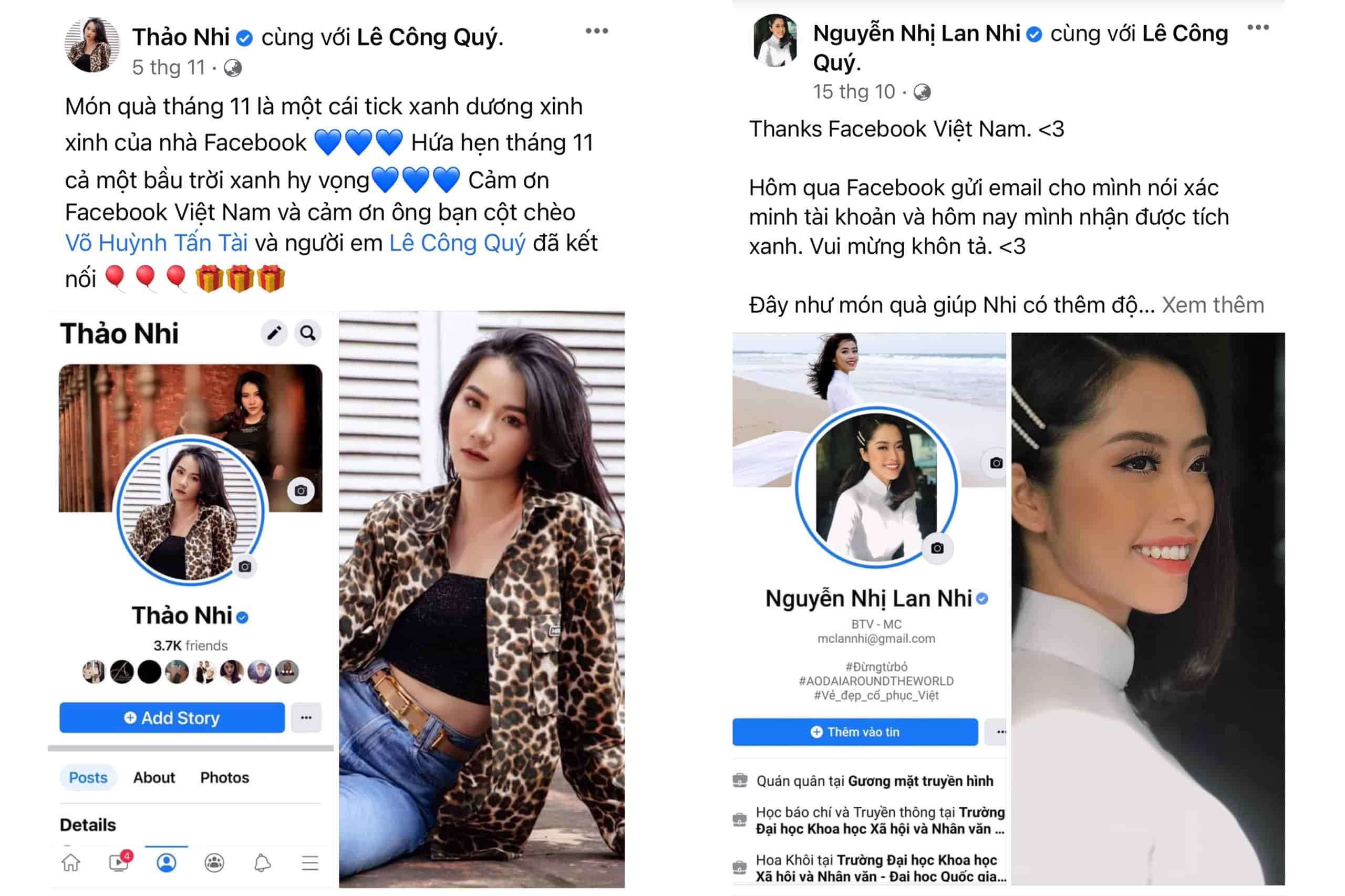 MC Thảo Nhi và MC Lan Nhi chia sẻ cảm xúc khi nhận được xác thực tick xanh
