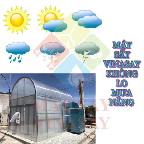 Không lo thời tiết với máy sấy năng lượng mặt trời