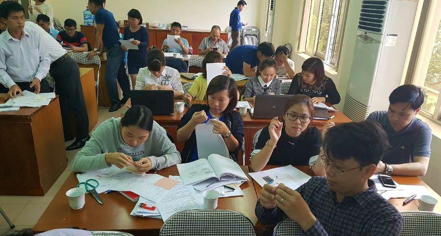 Khung cảnh tại 1 lớp học đào tạo ngắn hạn