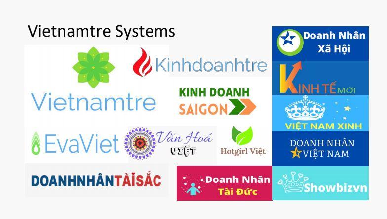 Hệ thống 13 trang tạp chí Việt Nam Trẻ sở hữu
