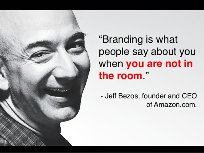 Câu nói nổi tiếng của Founder Amazon về thương hiệu cá nhân